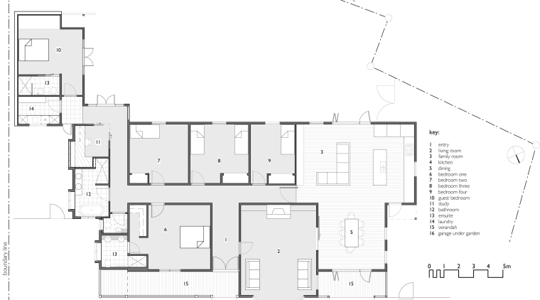 View of this home with unique design angle, architecture, area, black and white, design, diagram, drawing, elevation, floor plan, font, line, plan, product, product design, structure, text, white