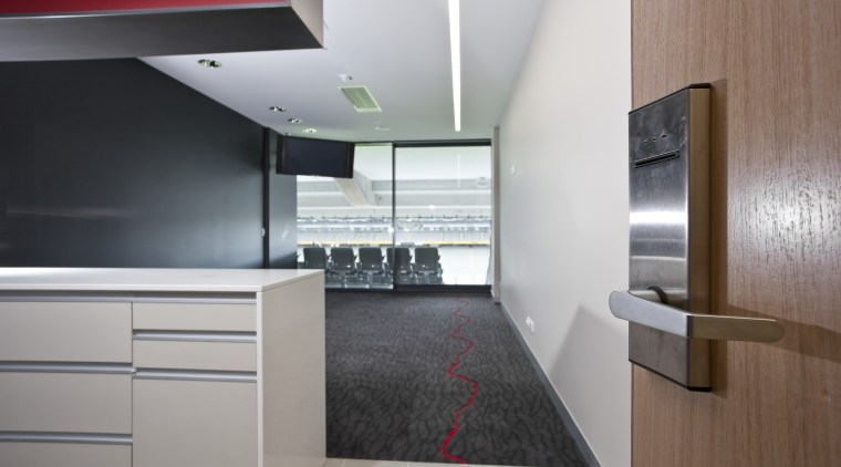 View of the upgraded Eden Park which features architecture, countertop, house, interior design, kitchen, product design, gray