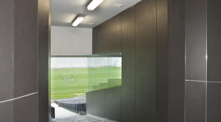 PBS Contracting supplied the Eden Park stadium facade architecture, floor, glass, interior design, product design, gray, black