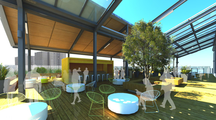 Conceptual image of the ACU Centre for Health canopy, house, outdoor structure, real estate, roof, brown