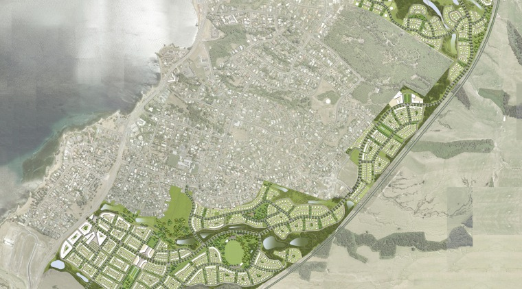 View of architectural plans for the Tahuna Ridge map, plan, urban design, water resources, gray