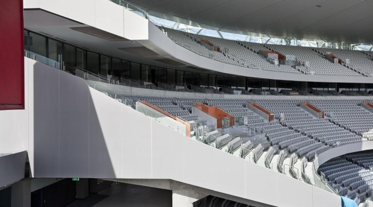 view of Eden Park which features precast concrete architecture, arena, sport venue, stadium, structure, gray, black
