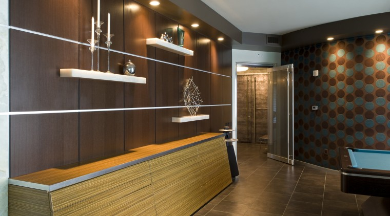 wood cabinet kitchen designed by Iripinia Kitchens bathroom, ceiling, floor, flooring, interior design, lobby, room, brown