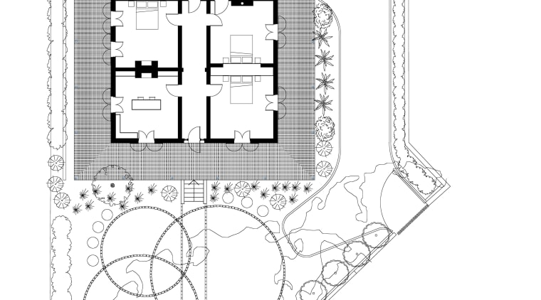 Floor plan of renovated period home. architecture, area, design, diagram, drawing, floor plan, font, line, plan, product design, schematic, structure, text, white