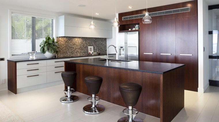 Large functional space/ Remodelled kitchen. Work triangle. Soft-closing cabinetry, countertop, cuisine classique, interior design, kitchen, real estate, room, gray