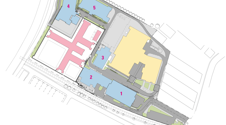 Floorplan of the Mt Eden Corrections Facility. area, line, plan, product design, property, real estate, structure, white