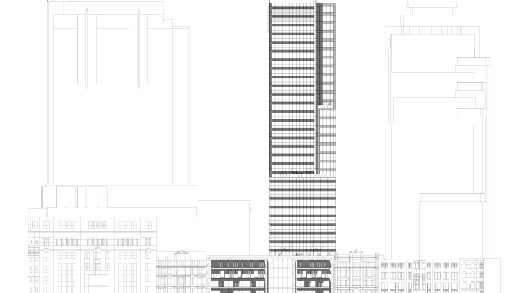 Floorplan of 420 George Street, featuring frameless vitrines architecture, area, building, design, diagram, elevation, font, line, plan, product design, structure, white