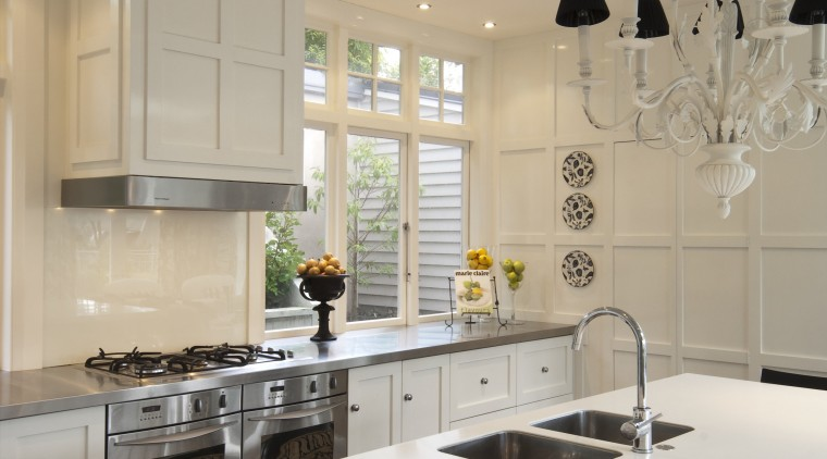 Creating a new tradition This kitchen references the ceiling, countertop, cuisine classique, home, interior design, kitchen, room, table, gray