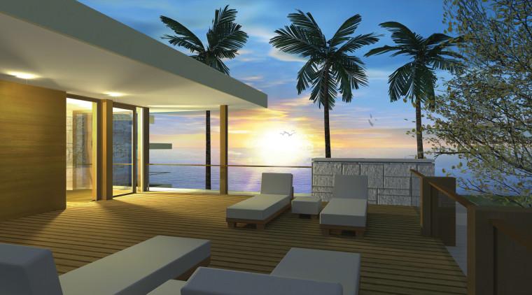 View of pool area. apartment, architecture, condominium, estate, home, house, interior design, lighting, penthouse apartment, property, real estate, resort, window, brown