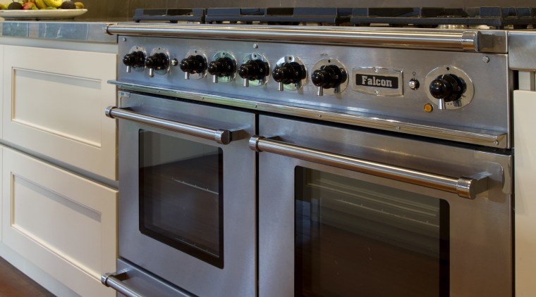 The falcon continental from Aga Rangemaster Group, supplied cabinetry, countertop, cuisine classique, gas stove, home appliance, kitchen, kitchen appliance, kitchen stove, major appliance, oven, brown