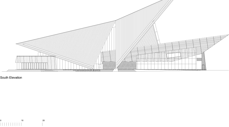 View of the interior/exterior/floor-plan of the Albany Entertainment angle, architecture, area, black and white, design, diagram, elevation, line, naval architecture, product design, roof, shed, structure, triangle, white