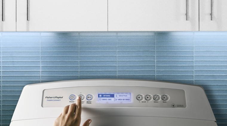 Fisher & Paykel updated range. Peter Russel, F&P home appliance, major appliance, product, product design, white, teal