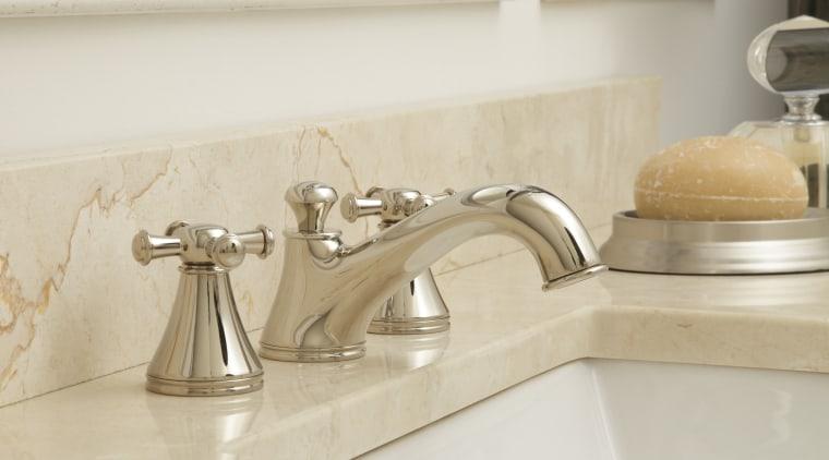 Sink faucet from TOTO USA bathroom, bathroom sink, countertop, floor, flooring, plumbing fixture, product design, sink, tap, tile, white