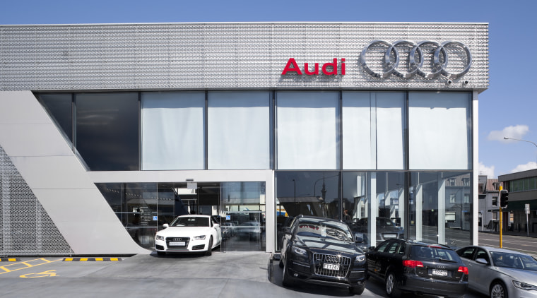 This Audi terminal was built chiefly by Dominion automotive design, bmw, building, car, car dealership, luxury vehicle, motor vehicle, technology, vehicle, gray