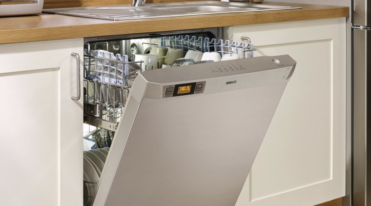View of dishwasher. cabinetry, countertop, dishwasher, floor, home appliance, kitchen, kitchen appliance, kitchen stove, major appliance, product, refrigerator, gray