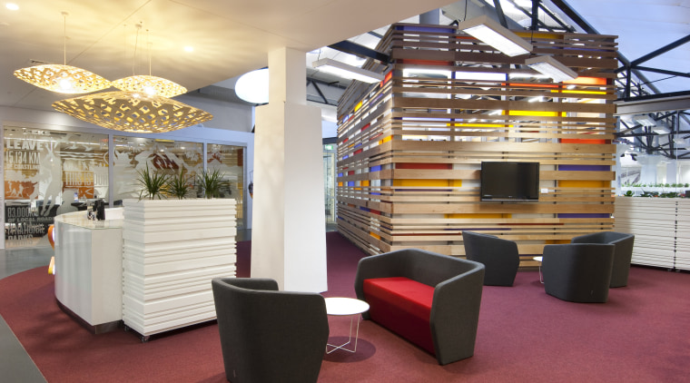 View of seating area with brown and red institution, interior design, lobby, product design, public library