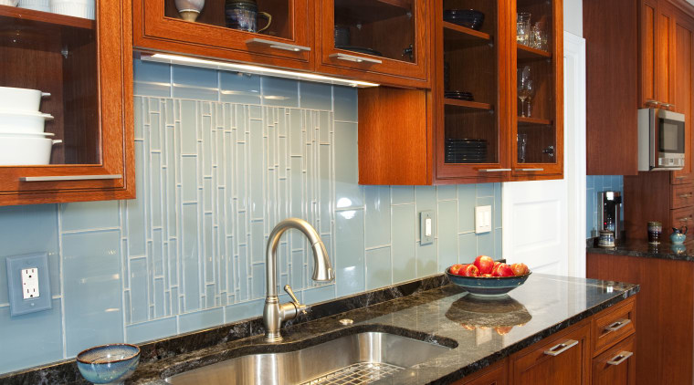 timber flooring and cabinetry, high glass door cabinets cabinetry, countertop, cuisine classique, hardwood, interior design, kitchen, room, under cabinet lighting, wood, wood stain, red