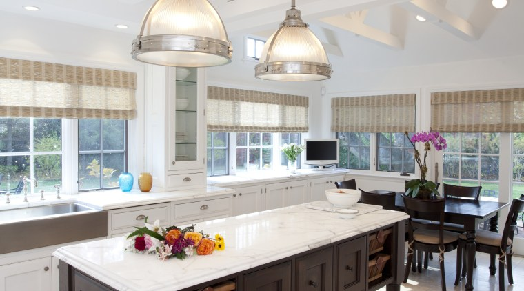 This kitchen was designed by Luis Viteri, it ceiling, countertop, flooring, interior design, kitchen, table, gray