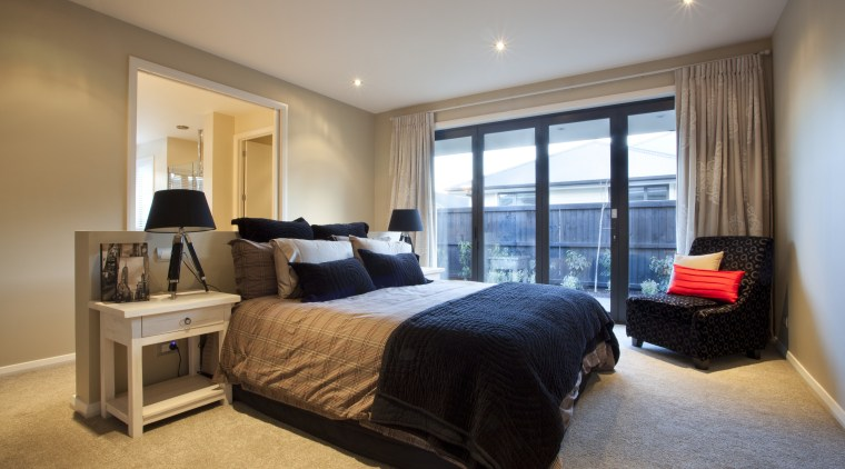 Bedroom view. bedroom, ceiling, estate, home, interior design, property, real estate, room, suite, window, gray