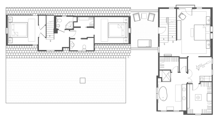 Plans of house architecture, area, black and white, design, diagram, drawing, elevation, floor plan, font, house, line, plan, product, product design, schematic, square, structure, technical drawing, text, white
