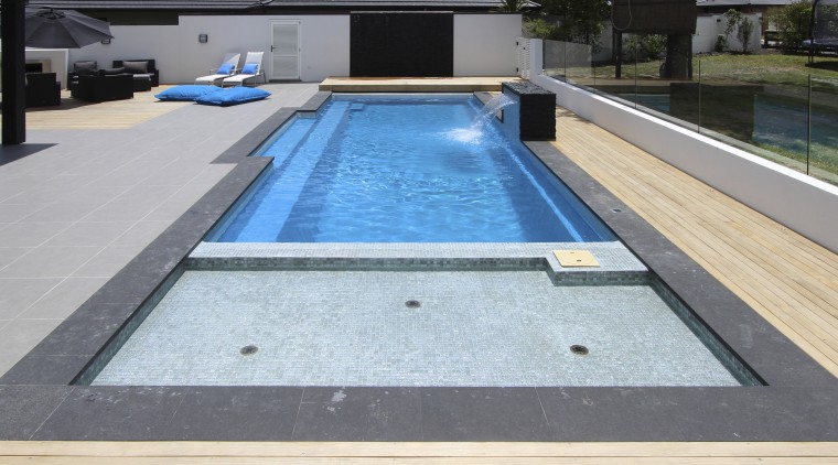Shallow area of pool composite material, daylighting, leisure, pool, property, swimming pool, water, wood, gray