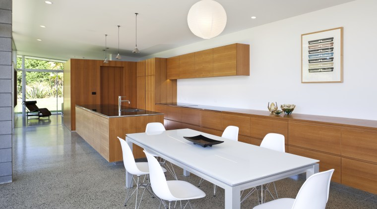 A wealth of function and storage is hidden architecture, floor, house, interior design, kitchen, real estate, room, table, white
