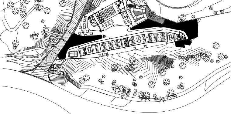 Plans of Cairns Botanic Gardens Visitor Centre area, artwork, automotive design, black and white, cartoon, design, diagram, drawing, font, illustration, line, line art, monochrome, product design, text, white
