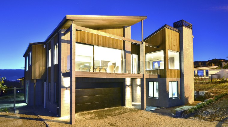 Yellowfox exterior and interior design project architecture, facade, home, house, property, real estate, blue
