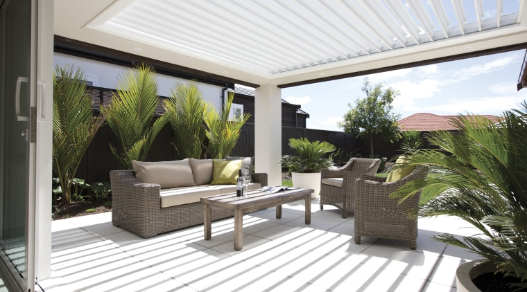 Life at Home initiative offers a world of backyard, estate, outdoor structure, patio, property, real estate, white