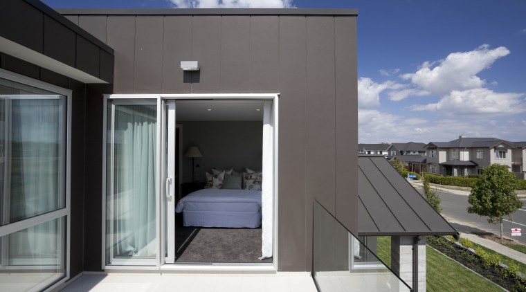 James Hardie Building Products used on House Karaka architecture, building, facade, home, house, property, real estate, residential area, siding, window, gray