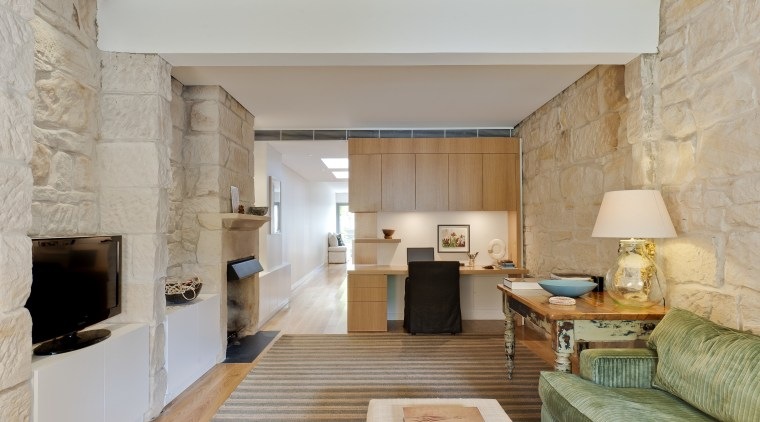 This renovated 19th-century terrace house was stripped back ceiling, floor, interior design, living room, property, real estate, room, suite, gray