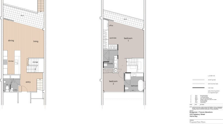 Floorplans of townhouse renovation by architect Evelyn McNamara. architecture, area, design, diagram, elevation, facade, floor plan, house, plan, product design, real estate, schematic, white
