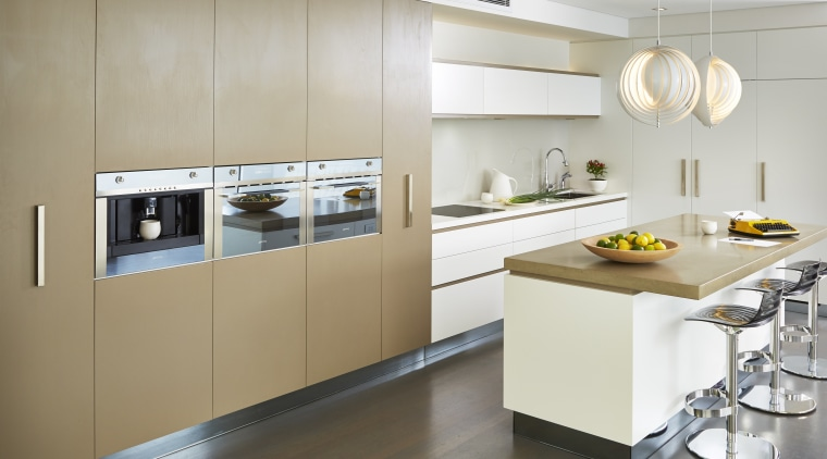 A cooking centre or a work of art? cabinetry, countertop, cuisine classique, home appliance, interior design, kitchen, product design, gray, white