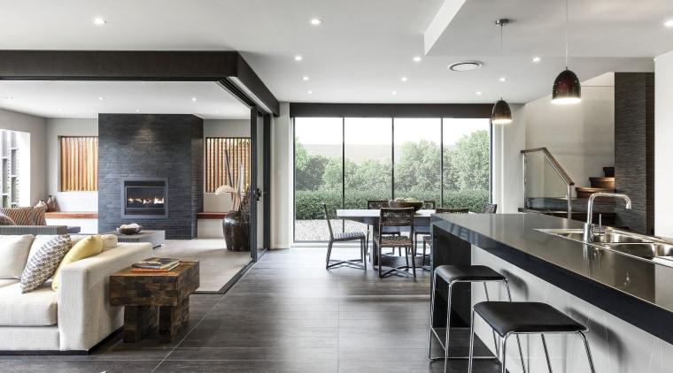 Winning recipe  Rawson Homes and celebrity chef ceiling, floor, flooring, house, interior design, living room, real estate, gray