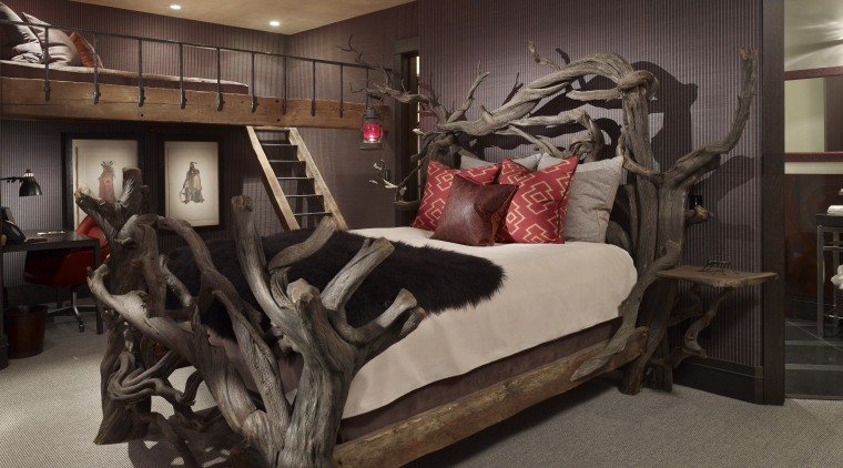 Exceptional Designed By A Local Artisan, A Driftwood Bed Bed, Bedroom, Floor, Flooring