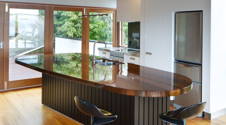 Black-painted tongue-and-groove boards on the base of the architecture, ceiling, chair, desk, floor, flooring, furniture, hardwood, house, interior design, laminate flooring, office, table, wood, wood flooring, brown, gray