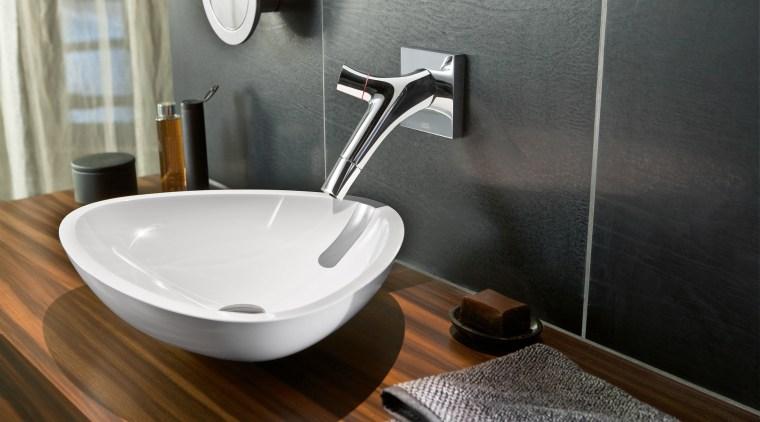 Pure and simple  Brita 3-way water filter bathroom, bathroom sink, ceramic, plumbing fixture, product design, sink, tap, black, gray