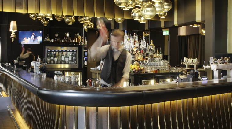 Brisbane casino bar designed by Tonic bar, restaurant, black, brown