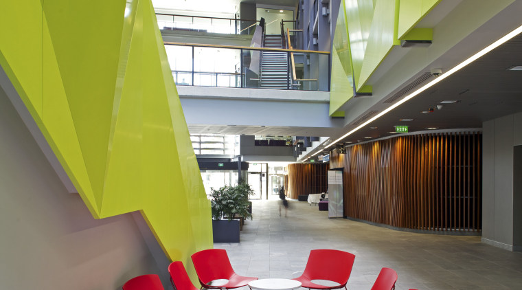 Jasmax remodels University of Auckland Grafton campus architecture, ceiling, daylighting, floor, furniture, house, interior design, loft, office, product design, table, gray