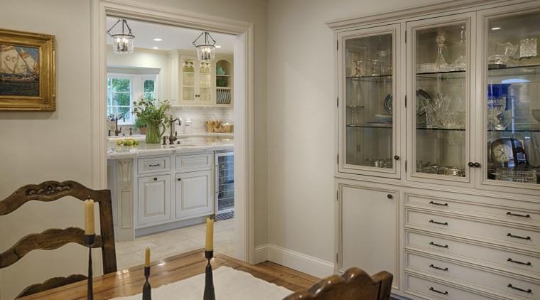 Kitchen by Lisa Steinbach Schecter cabinetry, furniture, home, interior design, room, window, gray, brown