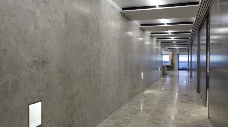 Marble surfaces from The Tile People feature in architecture, ceiling, daylighting, floor, flooring, interior design, lobby, tile, wall, gray