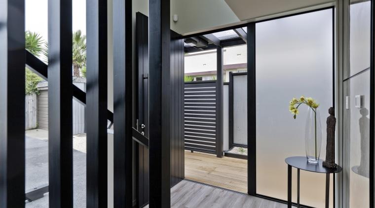 Outside the square  Smarter Smaller Home interiors door, interior design, window, gray, black