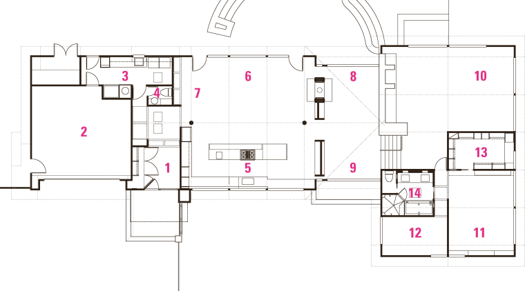 Legend to plans of original house that was area, design, diagram, floor plan, line, plan, product, product design, white
