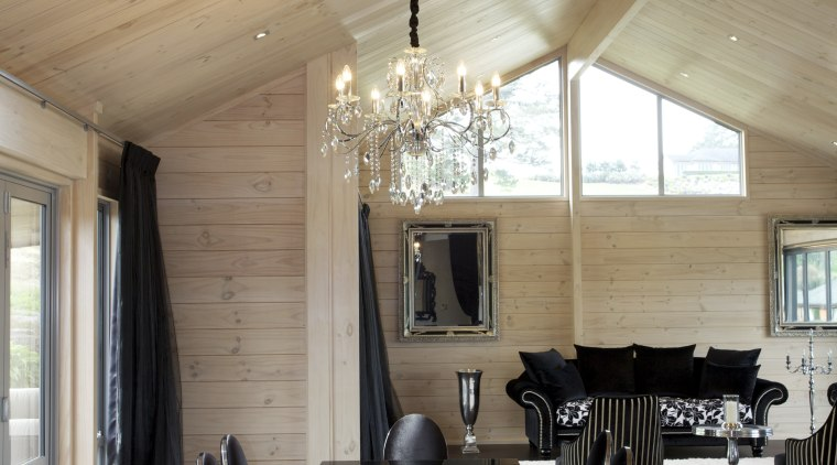 Contemporary Lockwood home in the country - Contemporary architecture, ceiling, dining room, house, interior design, living room, table, gray, brown