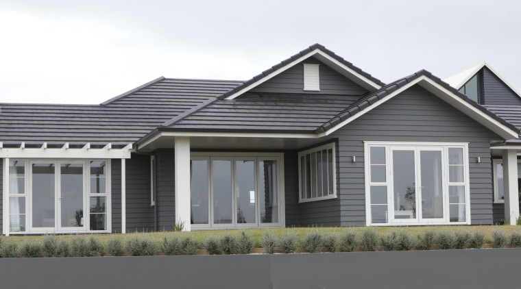 Picture this  Jame Hardie The Drawing Board building, cottage, elevation, estate, facade, home, house, neighbourhood, property, real estate, residential area, roof, siding, suburb, window, gray, white