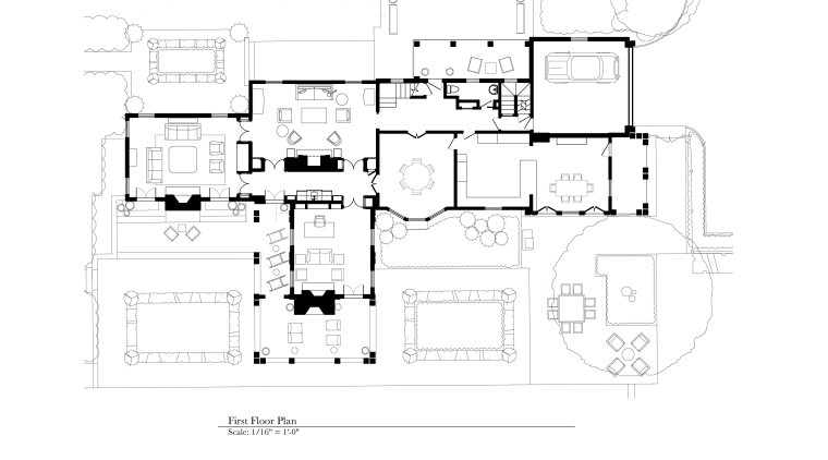 On this remodel project by Burns & Beyerl architecture, area, black and white, design, diagram, drawing, floor plan, plan, product design, schematic, technical drawing, white