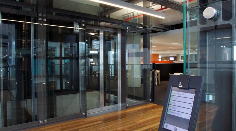 Schindler Lifts NZ supplied and installed three Schindler floor, flooring, black, gray