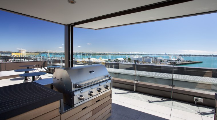 BBQS & More supplies Saber infrared grill to apartment, condominium, penthouse apartment, property, real estate, roof, gray