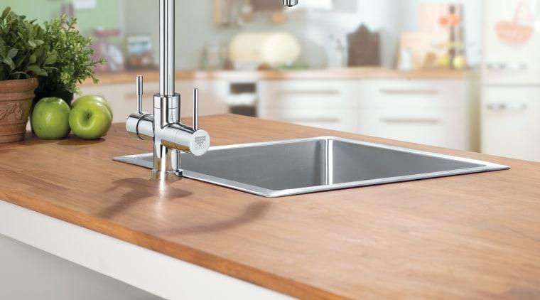 Brita water filter dispenser bathroom sink, countertop, furniture, kitchen, plumbing fixture, product, product design, shelf, shelving, sink, tap, gray