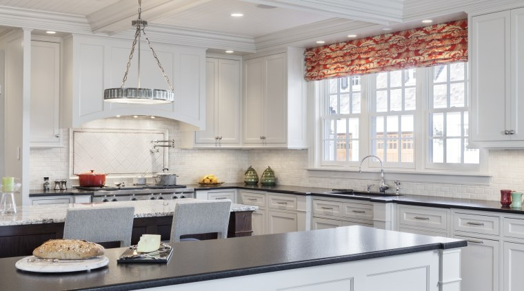 With ample storage a priority for the owners, cabinetry, countertop, cuisine classique, interior design, kitchen, room, gray